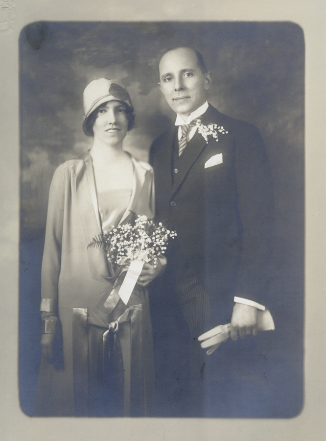 Louise and Arnold Ronnebeck Wedding, March 1926