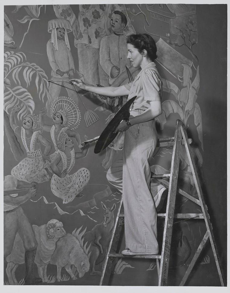 Louise Ronnebeck, USO Denver, 1942